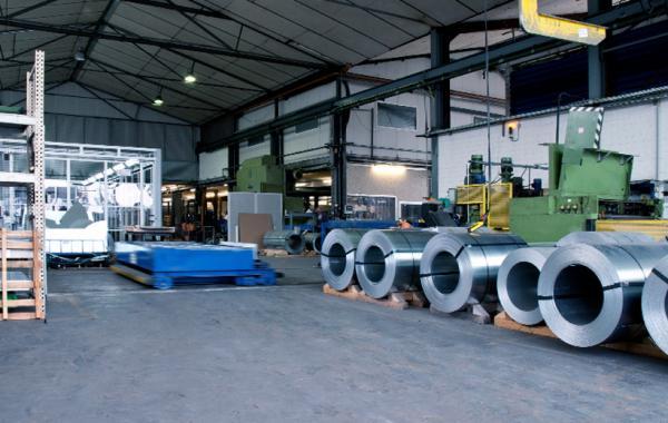 Blick in die Produktionshalle