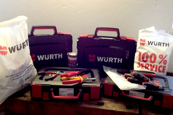 Firma Würth spendet Werkzeug für Tüftler